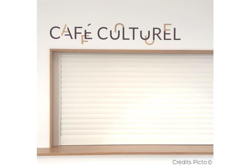 signalétique culturelle, graphisme et design pour médiathèque