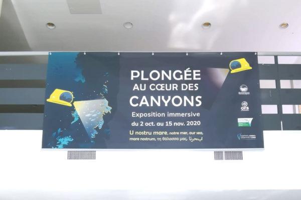 Escale de l'exposition itinérante « Plongée au cœur des canyons » à Bastia en Corse